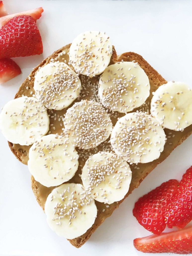 chia seed toast for breakfast blog