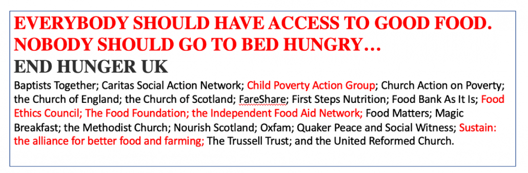 End hunger UK