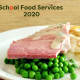 Scool food postcard